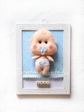 Quadretto con neonato in pannolenci