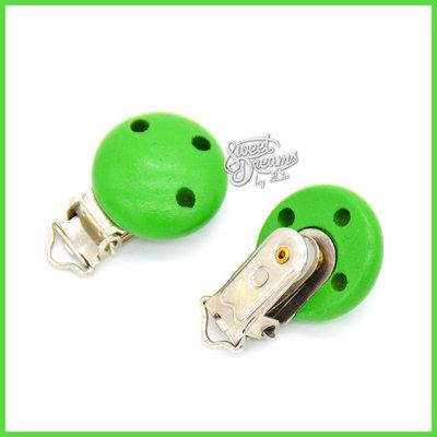 Clip con 3 fori per catenelle porta ciuccio *Verde*