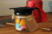 Bomboniere laura - Vasetto con confetti e tocco in feltro
