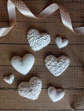 Gessetti - Cuori in polvere di ceramica di alta qualità