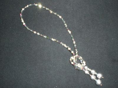 collana swarovski argento