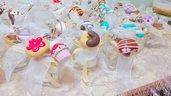 Bomboniere dolcetti in pasta fimo personalizzabili vasetto in vetro