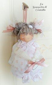 Bambolina angelo regalo/ bomboniera battesimo