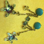 orecchini stelle marine swarosky