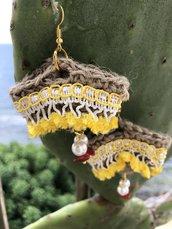 Orecchini coffa stile siciliano
