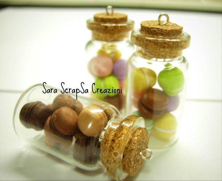 boccetta macarons colorati