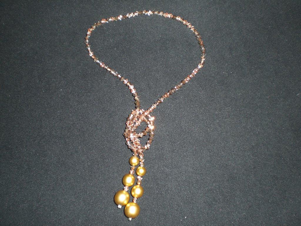 collana swarovski oro