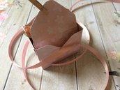 Scatolina confetti battesimo bambina rosa con mollettina in legno