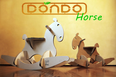 CAVALLO A DONDOLO - DONDO HORSE NATURAL (Finitura color legno naturale)