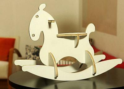 Cavallo A Dondolo Design.Cavallo A Dondolo Dondo Horse White Finitura Colore Bianco Satin