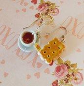 Orecchini biscottino tè