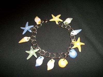 Handmade Beach Charm Bracelet