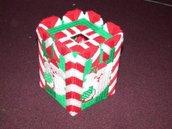 Handmade Candy Cane Santa Tissue Box Cover