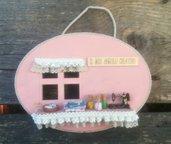 targa in legno, targhetta da parete, decorazioni per la casa, accessori in fimo, scena miniatura, accessori arredo, casa nuova