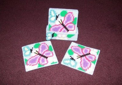 Handmade Pastel Butterfly Coasters