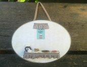 targa in legno da parete, targhetta cucina, accessori fimo, decorazioni per la casa, accessori arredo, idea regalo, matrimonio, casa nuova