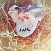 Bomboniera battesimo bebè cuore
