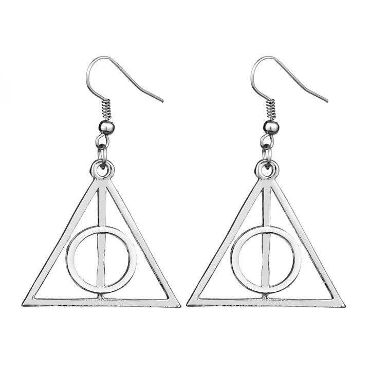 Orecchini Doni Morte Earrings Argento Movie Harry Potter Saga Deathly Hallows