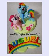 Cake Topper My Little Pony,decorazione di zucchero.