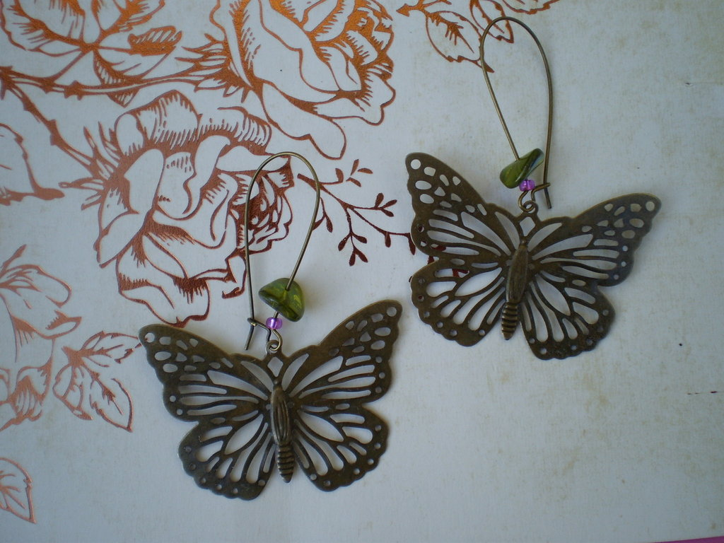 Orecchini Butterfly - Bronze Collection