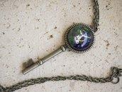 Collana steampunk ciondolo chiave