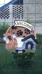 Fuori porta cagnolino Welcome