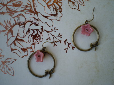 Orecchini Pink Bowknot - Bronze Collection