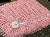 Copertina rosa fatta a mano