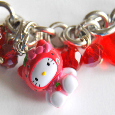 Strawberry Hello Kitty Bracelet