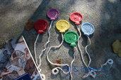 segnalibro uncinetto fatto a mano  in cotone a forma di palloncino colorato