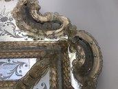 Rosette, foglie, curve o a nastro, chiodi e fiori, pezzi di ricambio per specchi , in vetro soffiato di Murano, trasparenti o in polvere oro