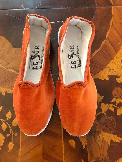 Scarpe in Velluto Arancio