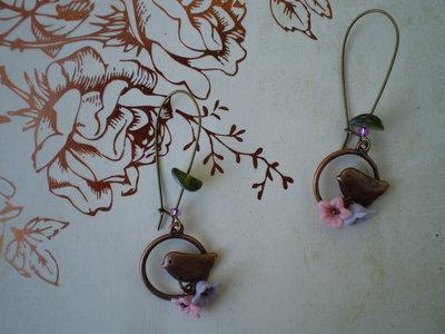 Orecchini Little Bird - Bronze Collection