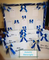 Tableau de marriage matrimonio  blu elettrico blu navy   TEMA MARE CONCHIGLIE STELLA MARINA