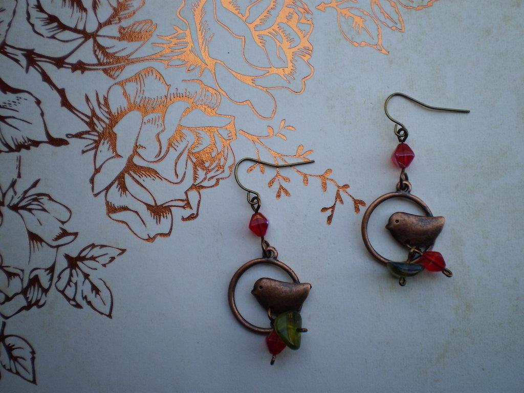 Orecchini Little Bird #2 - Bronze Collection