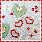 Parure con ciondolo Valentino – Linea Cuore