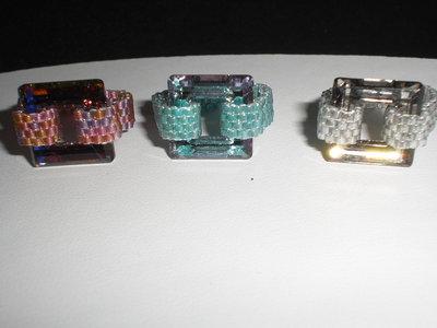 anelli con square swarovski