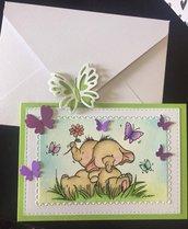 Card auguri Elefantino