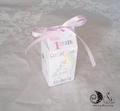Portaconfetti compleanno unicorno milk box bimba