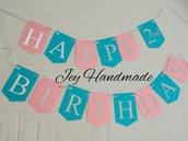 Banner festone festoni personalizzato lettere buon compleanno Happy birthday decorazioni decorazione