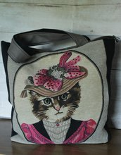 borsa gatto retro
