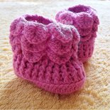 Il mio primo stivaletto realizzato a uncinetto con lana baby pura al 100%