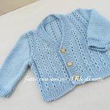 Cardigan / golfino / giachino / maglia bambino in azzurro chiaro