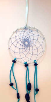 dreamcatcher azzurro/blu con perline personalizzabile