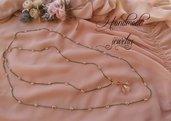 Collana in filo di pura seta