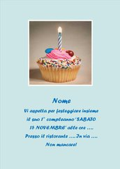Invito digitale primo compleanno maschietto