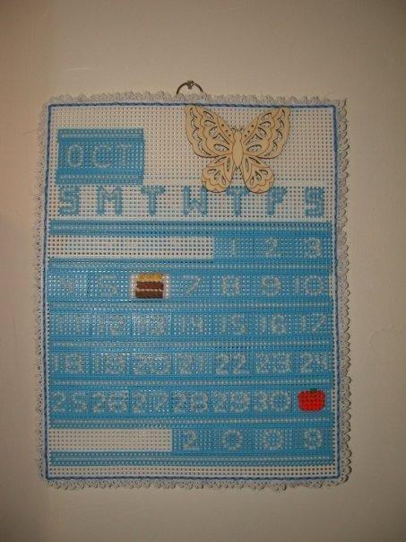 Handmade Plastic Canvas Calendar
