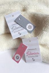 bigliettini stile marinaro rettangolari doppio tags