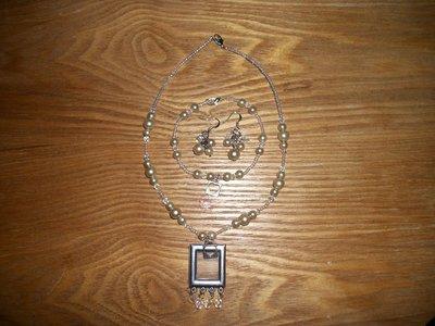 Handmade Pearl and Crystal Set