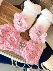 Set fascia e calzini nascita gioiello